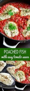 Poached fish is a great way to go when you need an easy, healthy dinner recipe. Tons of flavor in 30 minutes. 274 calories and 2 Weight Watchers SP #30minutemeal #dinnerrecipes #healthyeating