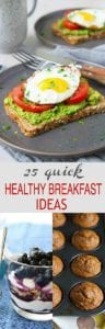 An array of healthy breakfast recipe ideas