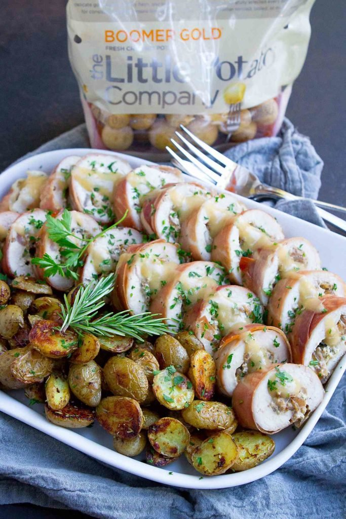 Serve up this rolled stuffed turkey breast for your next holiday meal or Sunday supper. A hit with the whole family! 268 calories and 6 Weight Watchers SP #Creamerpotatoes #holidayrecipes #turkeybreast
