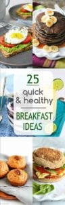 Keep this list of quick and healthy breakfast ideas on hand to make busy mornings run more smoothly! | On The Go | Clean Eating | Make Ahead | For Kids | For Teens | Mornings