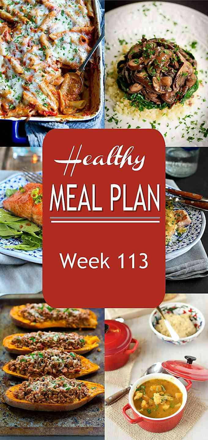 Meal planning time! Lighten things up with some easy, tasty recipes that your family will love. Use this healthy meal plan to make dinnertime planning a breeze this week.