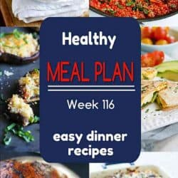 Healthy Meal Plan {Week 116}