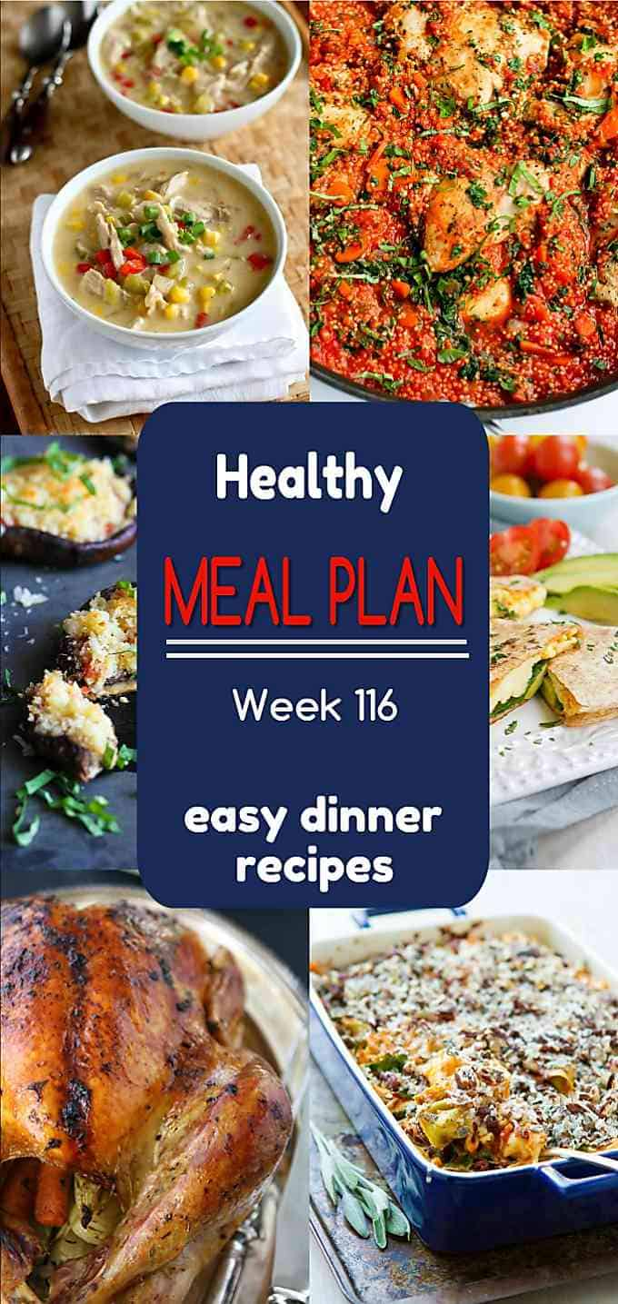 Healthy meal plan! Holiday feasting, leftovers recipes and healthy weeknight dinners all wrapped up in this week's meal plan. | Meal Prep | Meal Planning | Holidays #mealplan #mealplanning