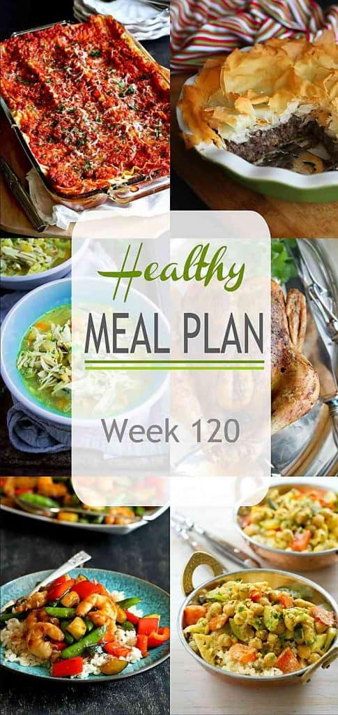 Here come the holidays! Plenty of tasty recipes in this healthy meal plan, including meals to feed a crowd and a leftovers recipe idea. | Meal Plan | Dinner | Meal Prep #mealplanning #mealprep #healthydinners