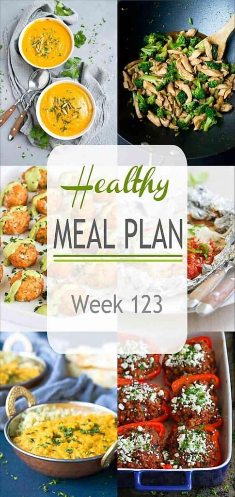 Another healthy meal plan coming your way, with a hearty soup, an easy stir fry and much more. | Meal Plan | Dinner | Meal Prep #mealplanning #mealprep #healthydinners