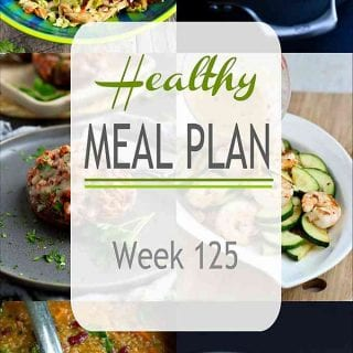From a plant based slow cooker soup to the most popular dinner salad on my site, this week's healthy meal plan has some blockbuster recipes. #mealplanning #dinner