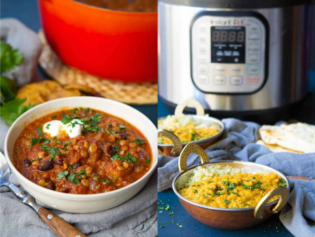 Collage of lentil recipes