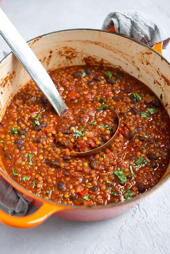 Vegan Lentil Chili Recipe Cookin Canuck