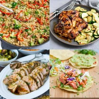 Vegetarian, salmon, chicken and pork...from stews to air fryer meal, the recipes in this week's healthy meal plan cover all the bases!