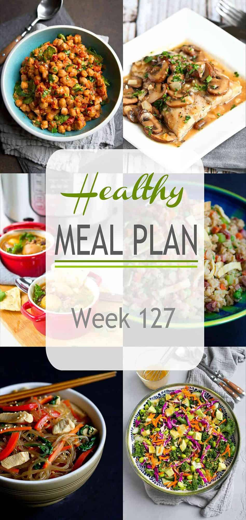 Plenty of new and old favorites in this week's healthy meal plan. A little bit of everything to keep the whole family happy. #mealplanning #mealprep #dinner