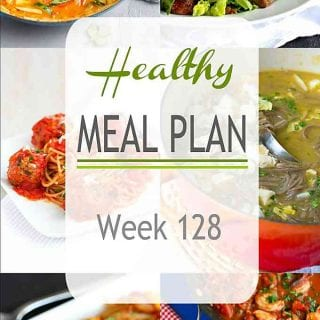 This week's healthy meal plan stars a flavorful vegan curry, slow cooker spaghetti and meatballs, a favorite chicken dish and much more! #mealplanning #dinner