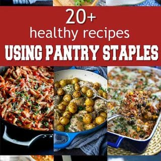 Turn to your pantry staples, such as beans, rice, pasta and potatoes to pull off healthy meals with little effort and minimal trips to the store. | Checklist | List | Homemade | Clean Eating | Grains | Canned | Dried | Pasta | Beans #pantrystaples #healthyrecipes #dinnerrecipes #easyrecipes