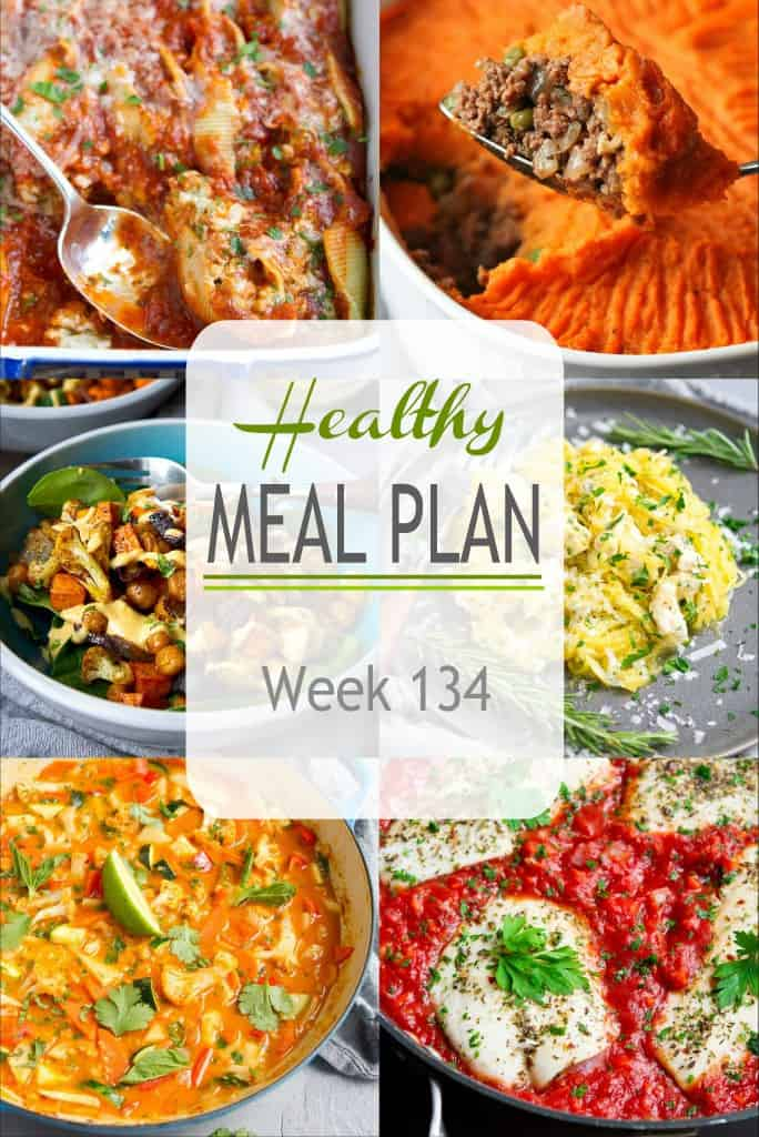 Dive into this week's healthy meal, which includes vegetarian, chicken & seafood recipes. Plus, each recipe includes substitution suggestions to make use of your pantry ingredients. #mealplanning #mealplan #dinner