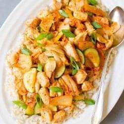 Chicken Kimchi Stir Fry Recipe