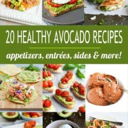 Collage of 9 avocado recipe photos