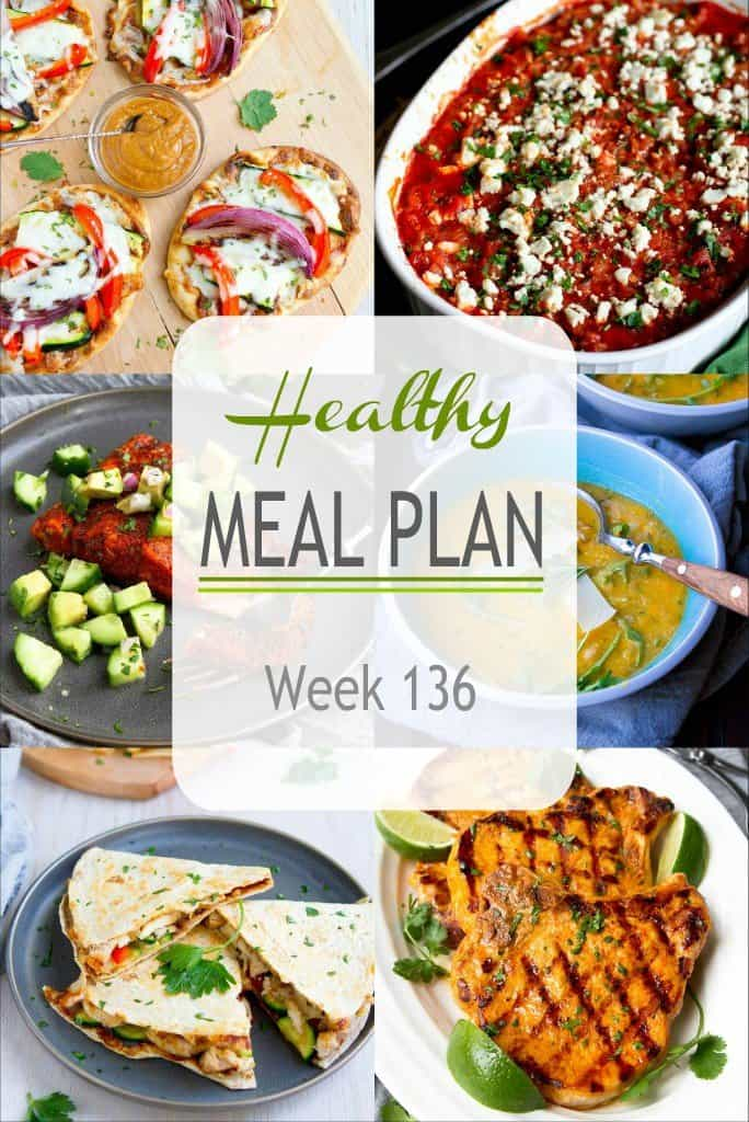 This week's healthy meal plan features both comfort foods and grilled meals, both meat and meatless. A little something for everyone! #mealplanning #mealplan #mealprepp #dinnerideas