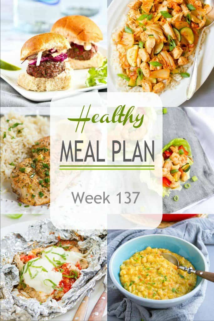 This week's healthy meal plan includes Father's Day menu items on the lighter side, plus a great mix of weekday meals. #mealplan #mealplanning #mealprep #dinner