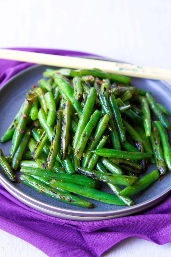 Spicy Green Bean Stir Fry Recipe Quick Easy Side Dish Recipe