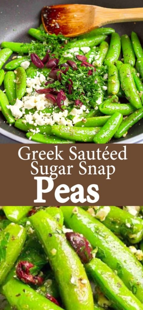 Fresh sautéed sugar snap peas combined with creamy feta cheese, briny olives and zesty garlic make this easy side dish an instant family favorite. 73 calories and 2 Weight Watchers SP | Recipes | Recipe | Vegetarian | How to cook | Recipe healthy #snappeas #sugarsnappeas #vegetariansides #sidedish #weightwatchers #smartpoints