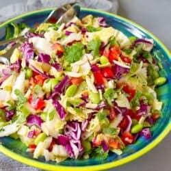 Asian Slaw with Edamame & Miso Dressing