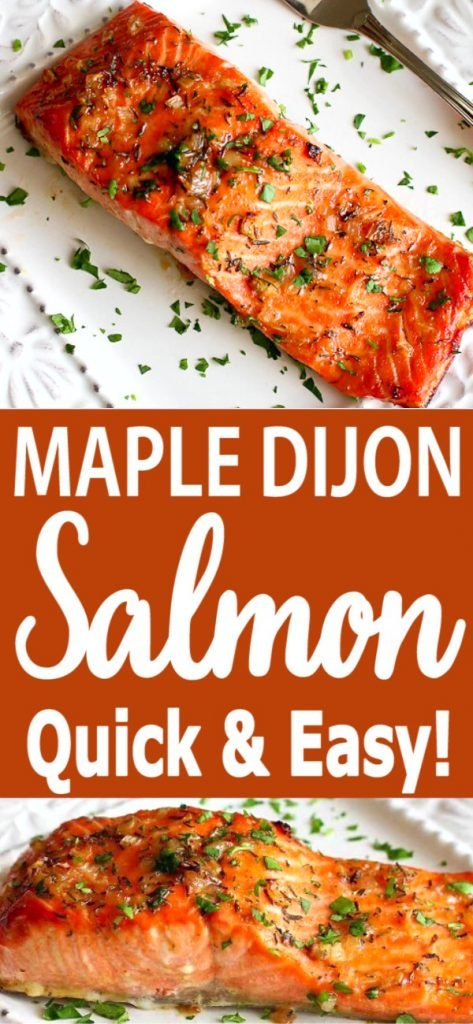 Sweet, savory, heart healthy & ready in just 20 minutes!. This easy Maple Dijon Baked Salmon is a fantastic weeknight dinner option. 237 calories and 2 Weight Watchers SP | Recipes oven easy | Healthy | Best | How to | Easy oven #bakedsalmon #salmonrecipes #maplesalmon #easydinner #weightwatchers #cleaneating