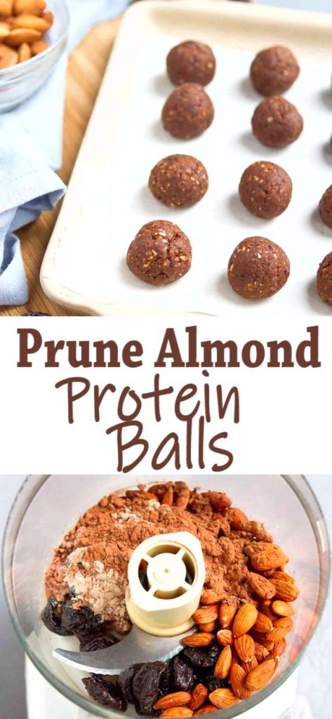 These Almond Chocolate Energy Bites are fantastic for afternoon snacking or refueling after a workout. 109 calories and 3 Weight Watchers SP for 2 protein balls. | Healthy | No Bake | Energy Bites | Chocolate | Low Carb | Plant Based | Vegan | Powder | For Kids | Gluten Free #plantbased #energybites #proteinballs #vegansnacks #glutenfree #wwrecipes #weightwatchers