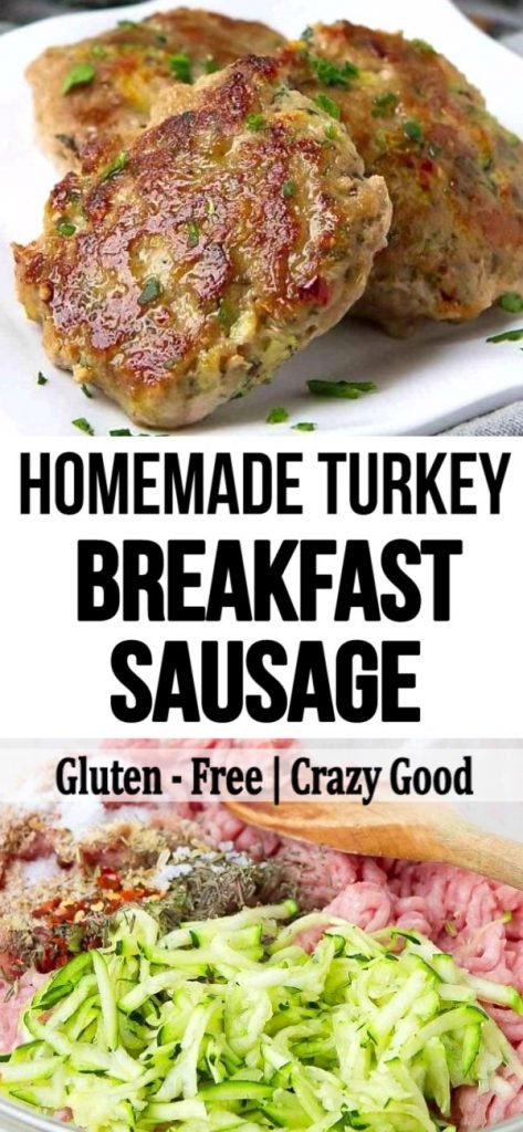 Homemade Turkey Breakfast Sausage Patties are a breeze to make and beat any store-bought brand by a mile! Double or triple the recipe and freeze the rest. 112 calories and 3 Weight Watchers SP | Recipes healthy | Patties | Seasoning | Brunch #breakfastsausage #healthysausage #breakfastrecipes