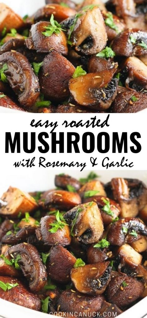 Oven roasted mushrooms are easy to make and are a great addition to pasta and rice dishes, or as a side for chicken, pork or steak. 89 calories and 2 Weight Watchers SP | Oven | Recipes | Plant Based | Vegan | Oven healthy | Clean Eating | How to #roastmushrooms #roastedmushrooms #plantbased #vegansides #mushroomrecipes #smartpoints #weightwatchers #cleaneating #howto