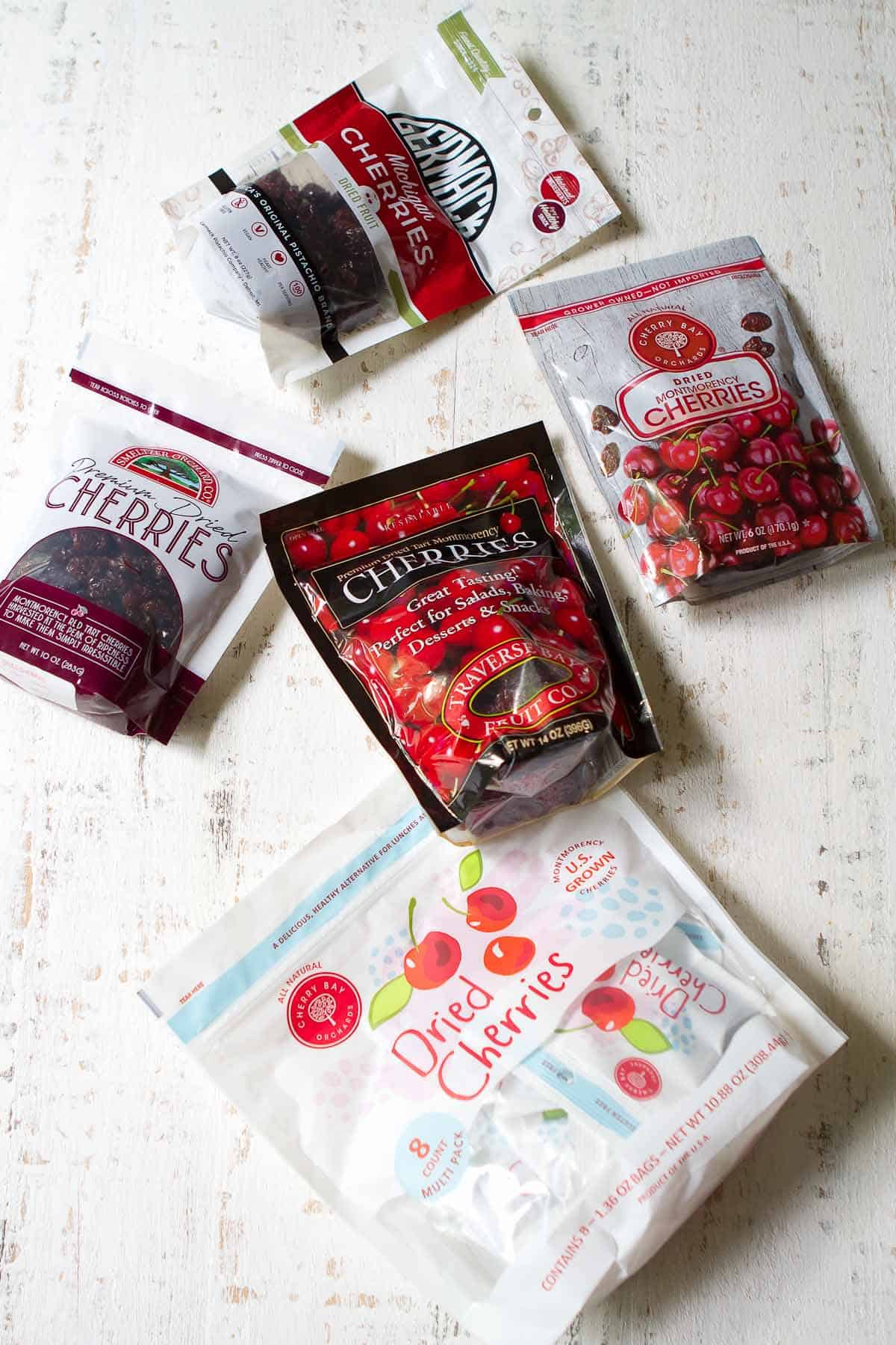 Five packages of U.S. grown Montorency tart cherries