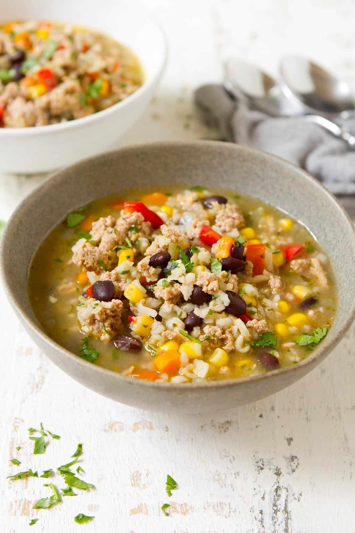 Soup season is here! This tasty Southwest Ground Turkey Soup only requires 10 to 15 minutes of active prep time, thanks to your trusty Instant Pot.   Dinner   Pressure Cooker   Vegetable   Recipes healthy   Recipes easy