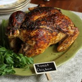 Roasted Chicken Recipe with Deep Onion-Garlic Gravy