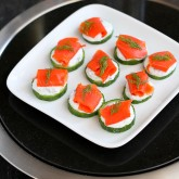 Smoked Salmon & Cucumber Appetizer Recipe with Caper Yogurt