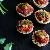 Mini Chili Filled Phyllo Cups