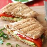 Grilled Italian Panini Recipe with Zucchini, Summer Squash & Basil {Vegetarian}