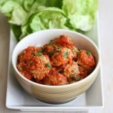 Baked Turkey, Quinoa & Zucchini Meatballs Recipe in Lettuce Wraps