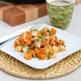 Sweet Potato & Endive Hash Recipe with Sriracha Buttermilk Sauce